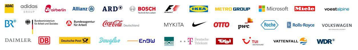 Logos - Unternehmen mit denen wir zusammenarbeiten